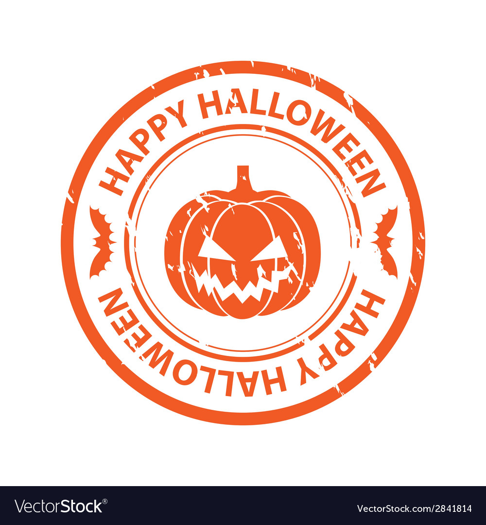 Halloween rubber stamp vector | Price: 1 Credit (USD $1)