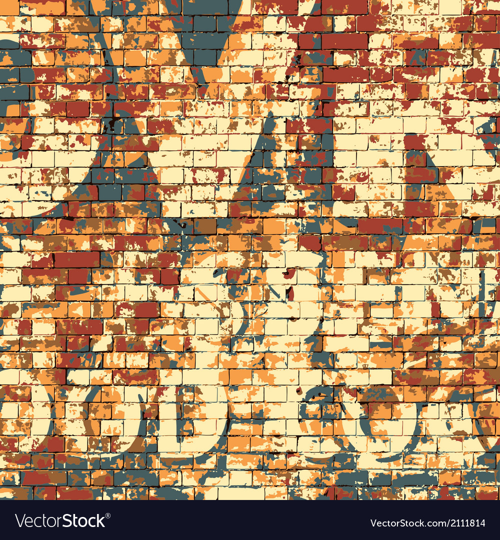 Old grunge brick wall vector | Price: 1 Credit (USD $1)