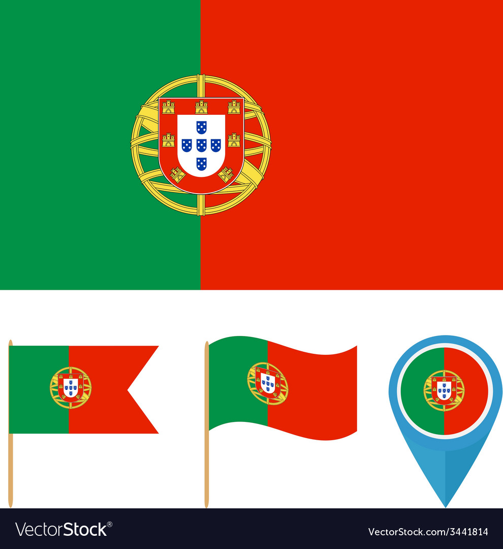 Portugal country flag vector | Price: 1 Credit (USD $1)