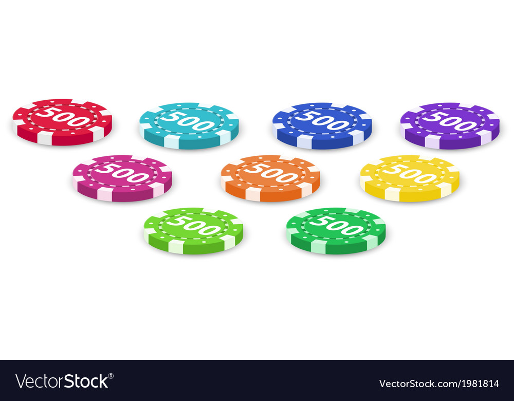 Set of poker chips vector | Price: 1 Credit (USD $1)