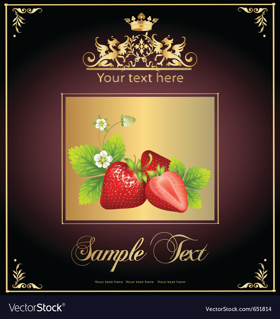 Strawberries vector | Price: 1 Credit (USD $1)