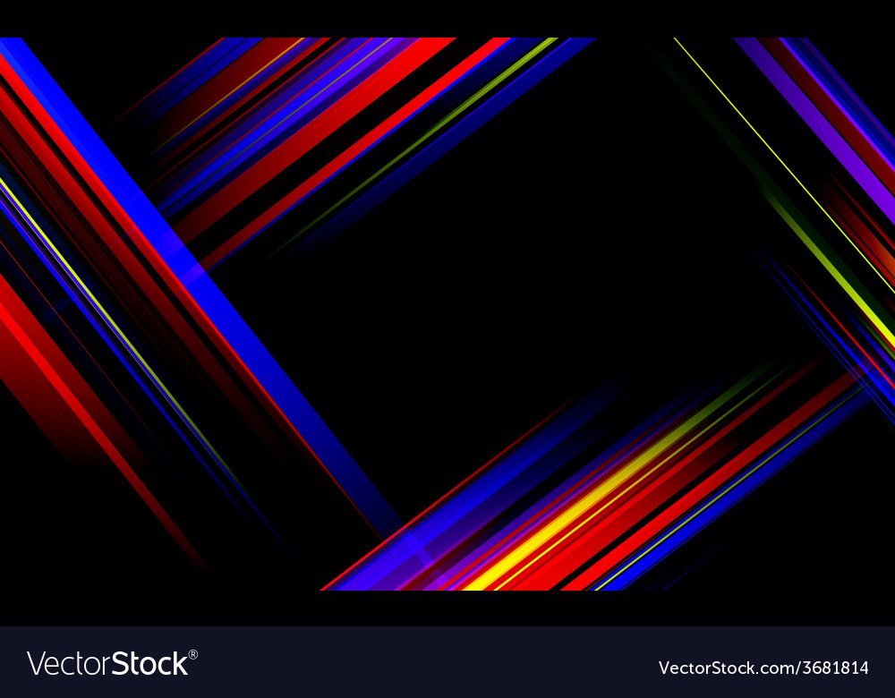 Striped abstract design on dark background vector | Price: 1 Credit (USD $1)