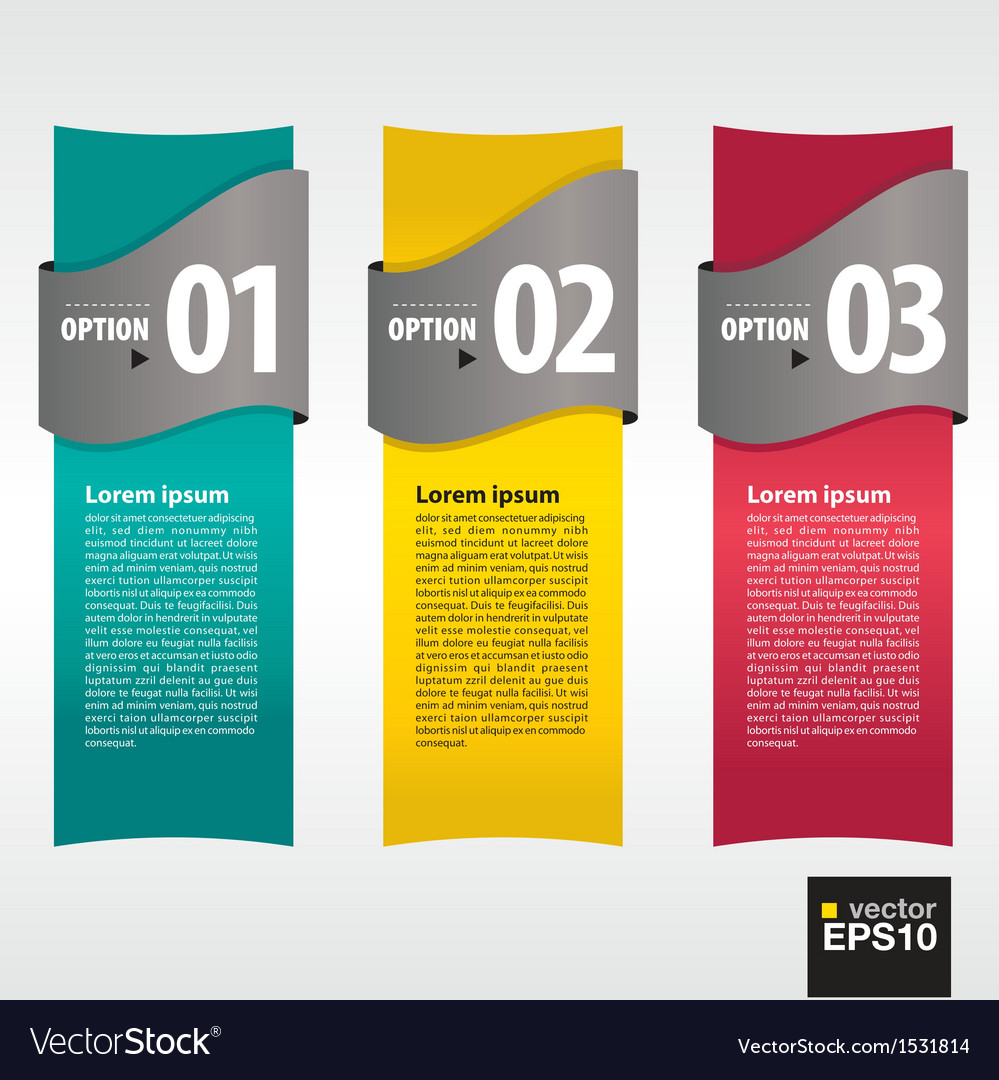 Vertical banner with numbered vector | Price: 1 Credit (USD $1)