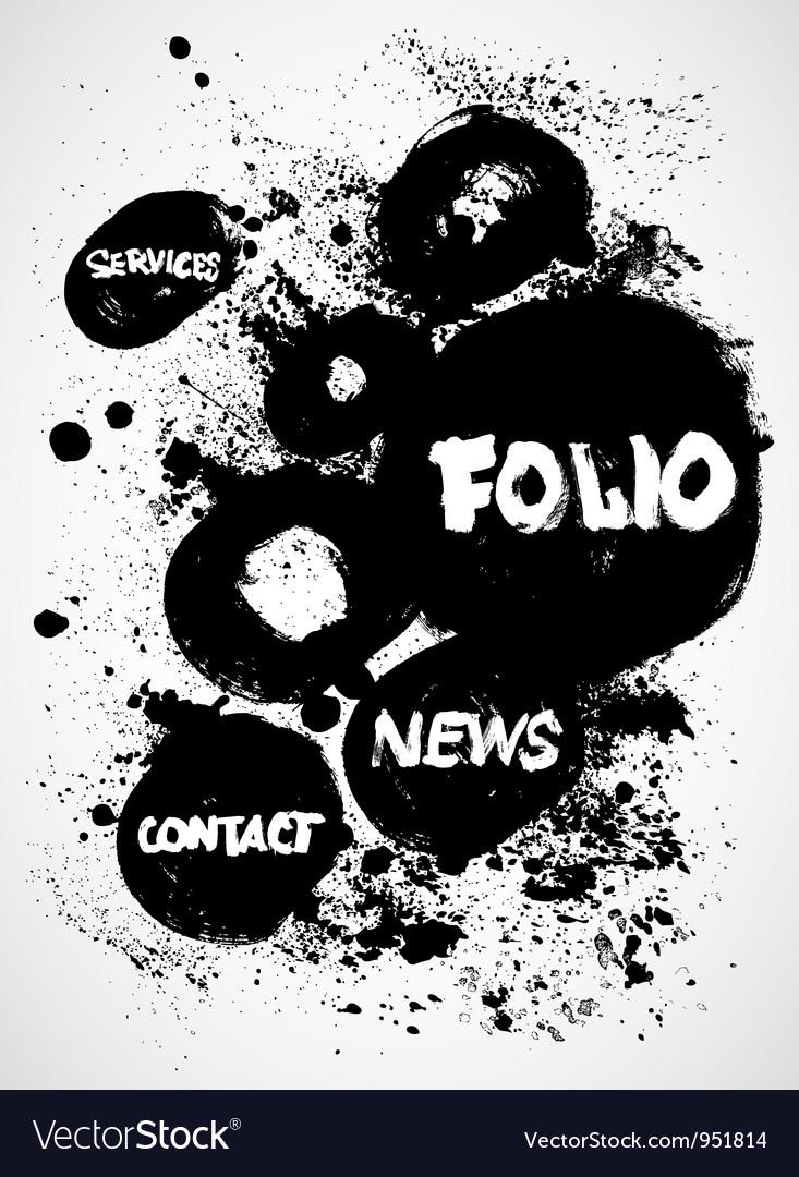 Vintage ink black and white design vector | Price: 1 Credit (USD $1)