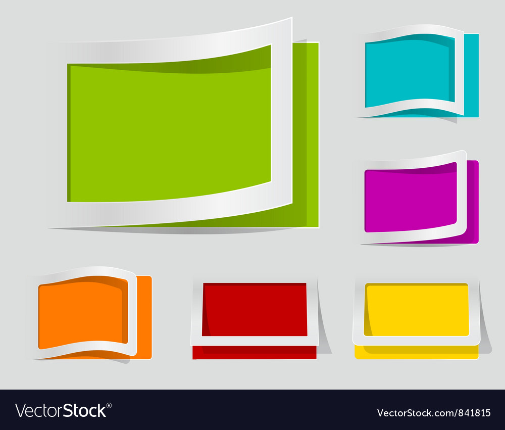 Coloured labels vector | Price: 1 Credit (USD $1)