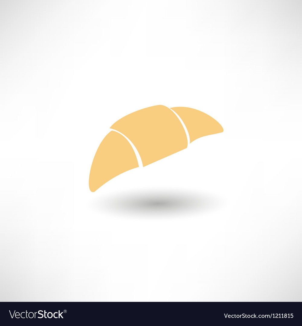 Croissant vector | Price: 1 Credit (USD $1)