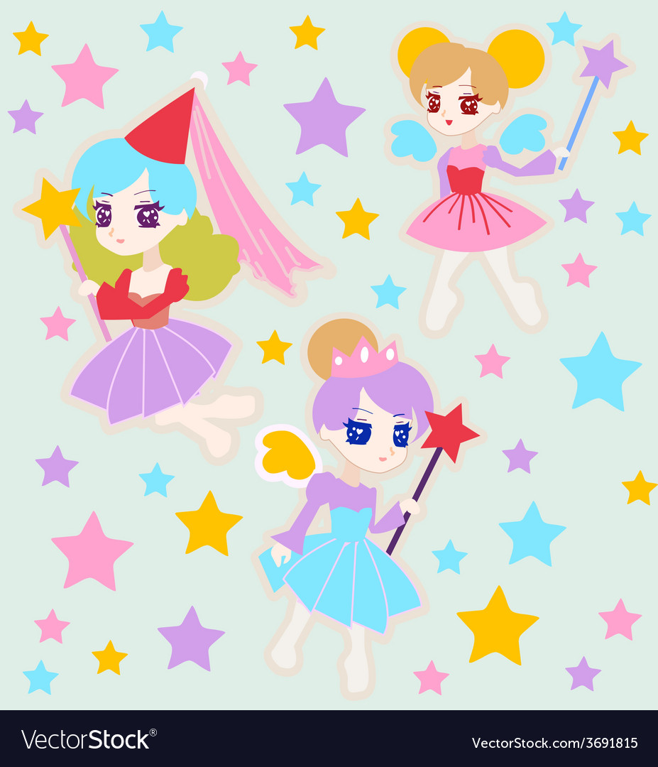 Cute fairy princess vector | Price: 1 Credit (USD $1)