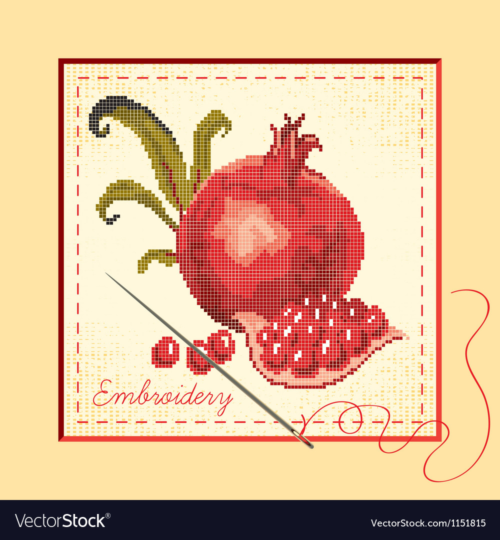 Embroidered vector | Price: 1 Credit (USD $1)