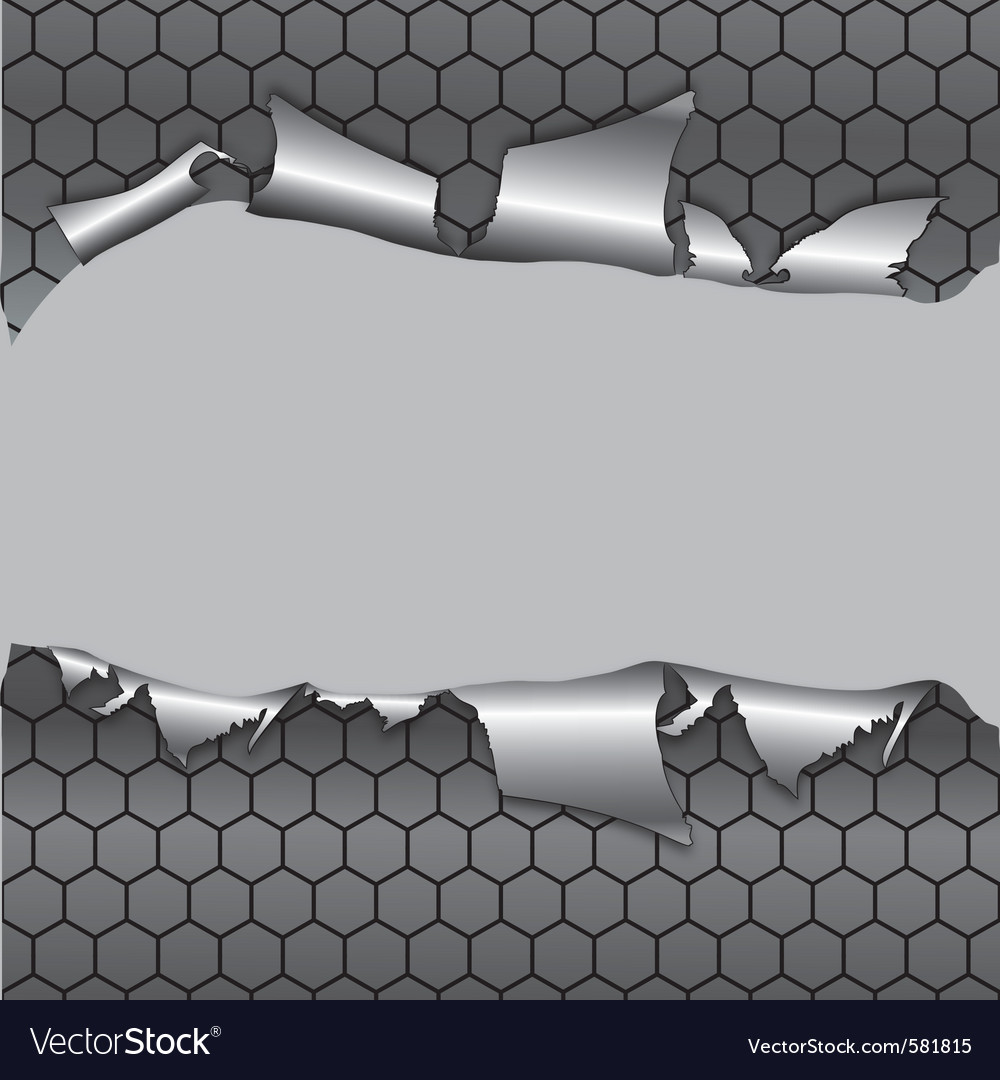 Hexagon metallic background vector | Price: 1 Credit (USD $1)