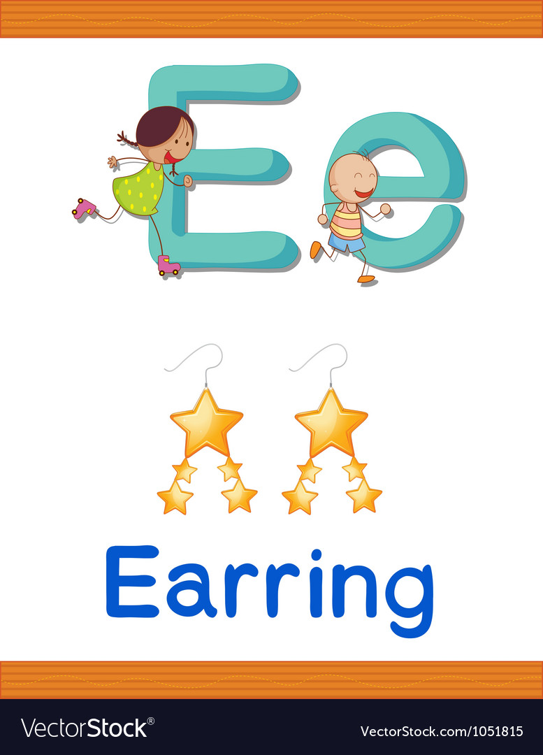 Learning alphabet e vector | Price: 1 Credit (USD $1)