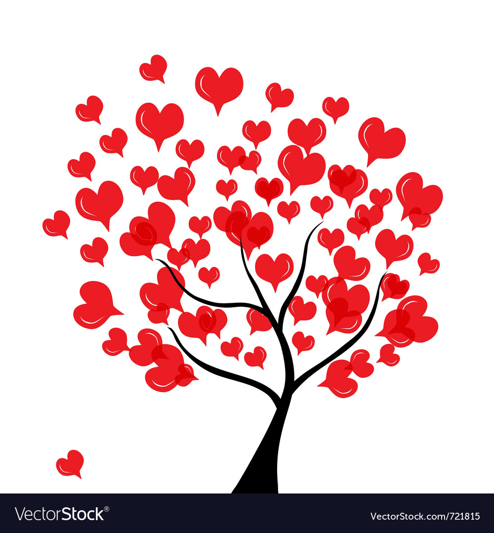 Love tree vector | Price: 1 Credit (USD $1)