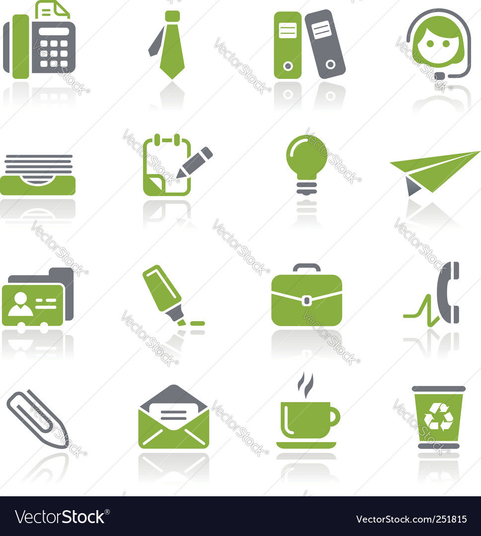 Office and business icons vector | Price: 1 Credit (USD $1)