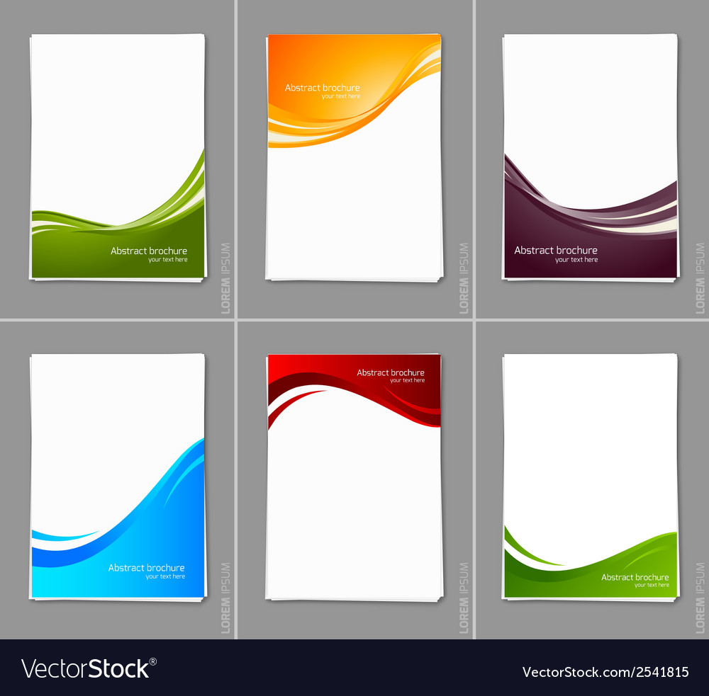 Set of wavy brochures vector | Price: 1 Credit (USD $1)