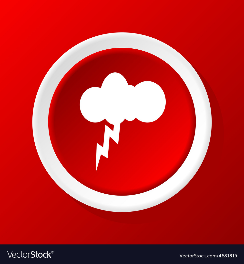 Thunderbolt icon on red vector | Price: 1 Credit (USD $1)