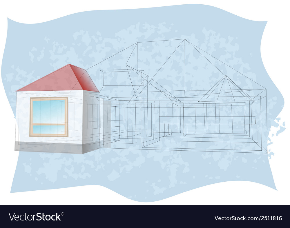 Architecture blueprint vector | Price: 3 Credit (USD $3)