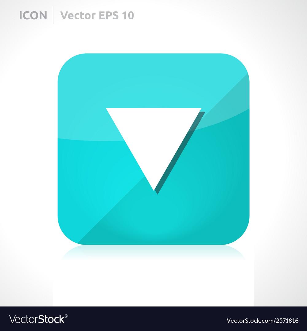 Arrow down icon vector   Price: 1 Credit (USD $1)