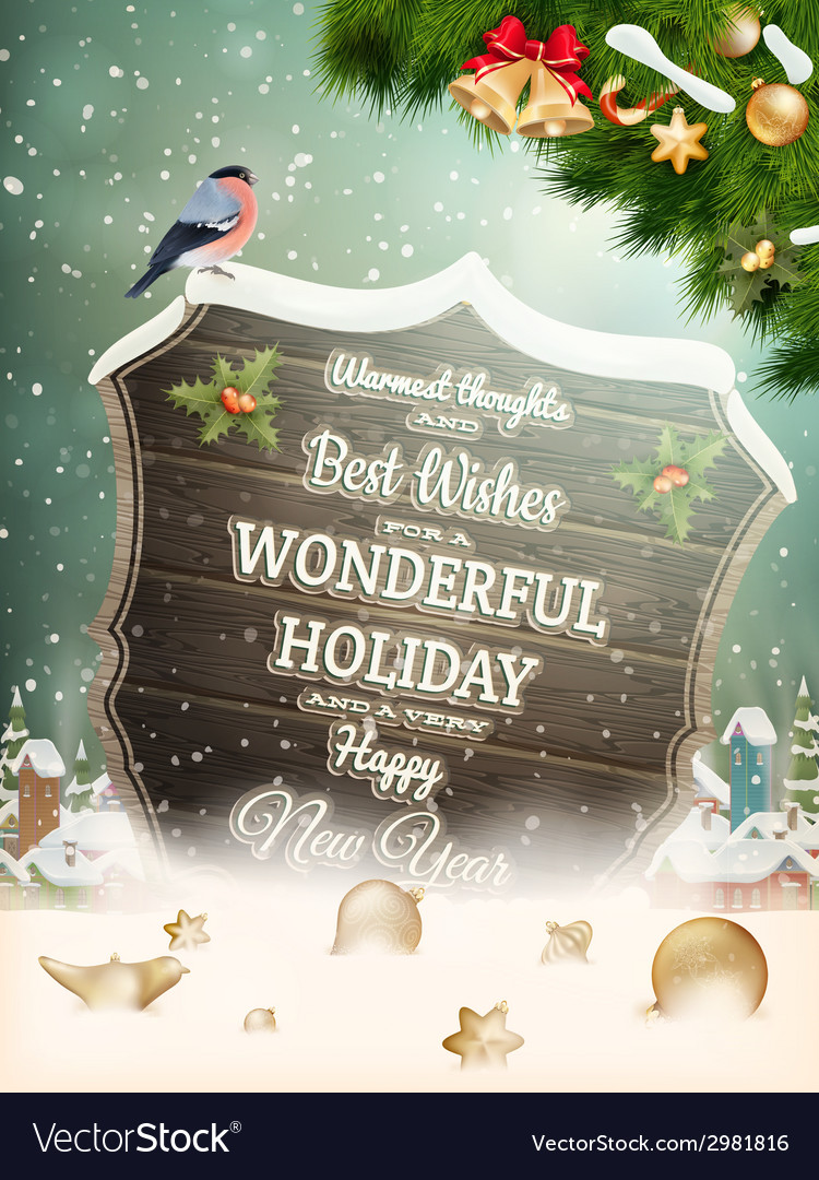 Christmas vintage street with signboard eps 10 vector | Price: 5 Credit (USD $5)