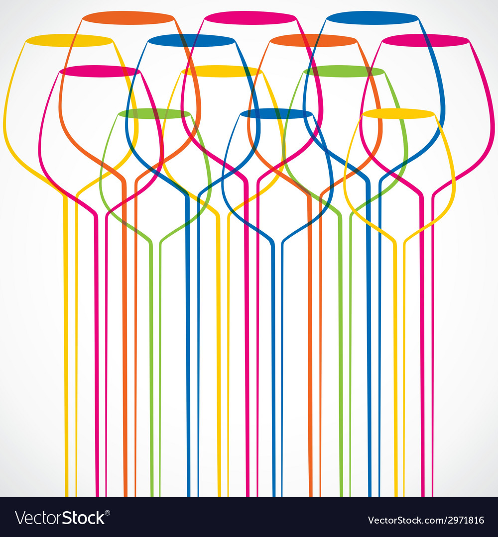Colorful wine glass stock background vector   Price: 1 Credit (USD $1)