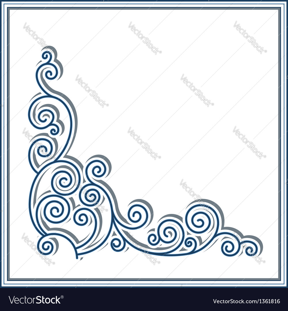 Corner pattern vector | Price: 1 Credit (USD $1)