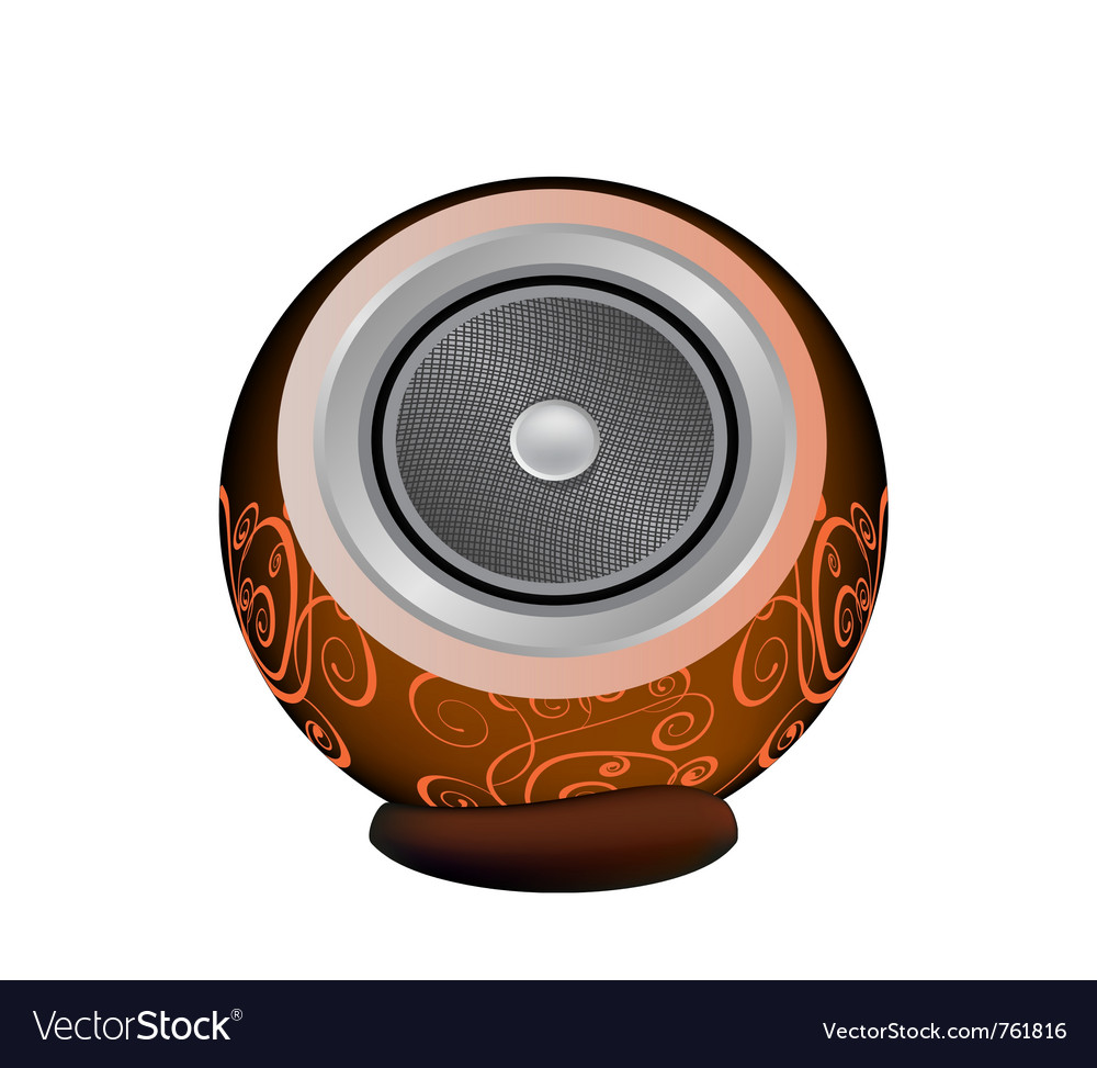Dark orange audio speaker vector | Price: 1 Credit (USD $1)