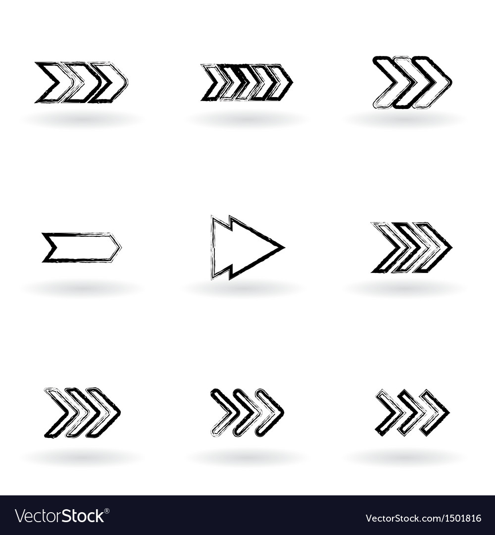 Drawing arrows vector | Price: 1 Credit (USD $1)
