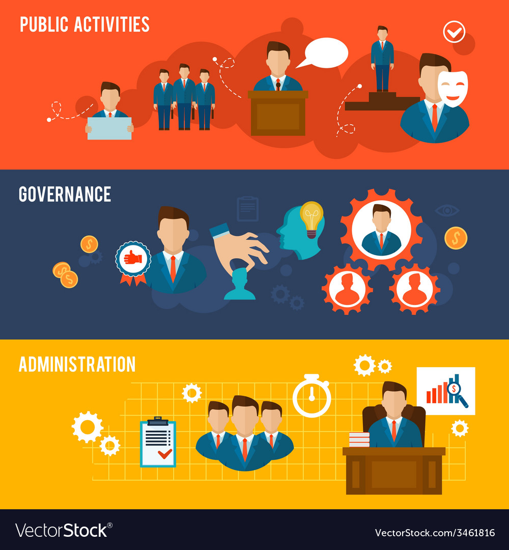Executive banners flat vector | Price: 1 Credit (USD $1)