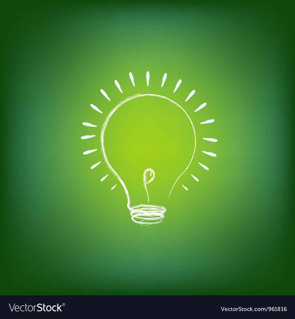 Idea light bulb vector | Price: 1 Credit (USD $1)