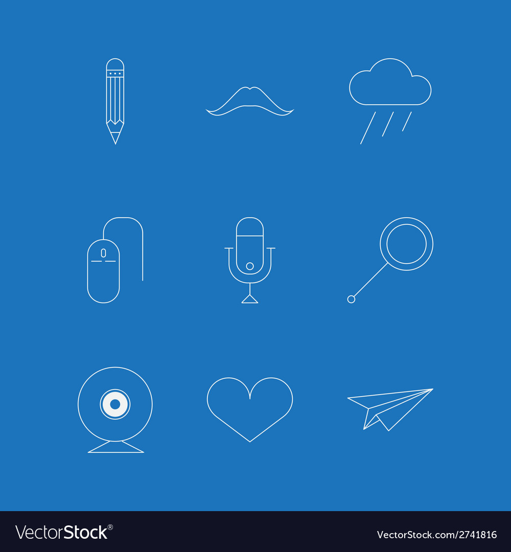 Outline icons for blog vector | Price: 1 Credit (USD $1)