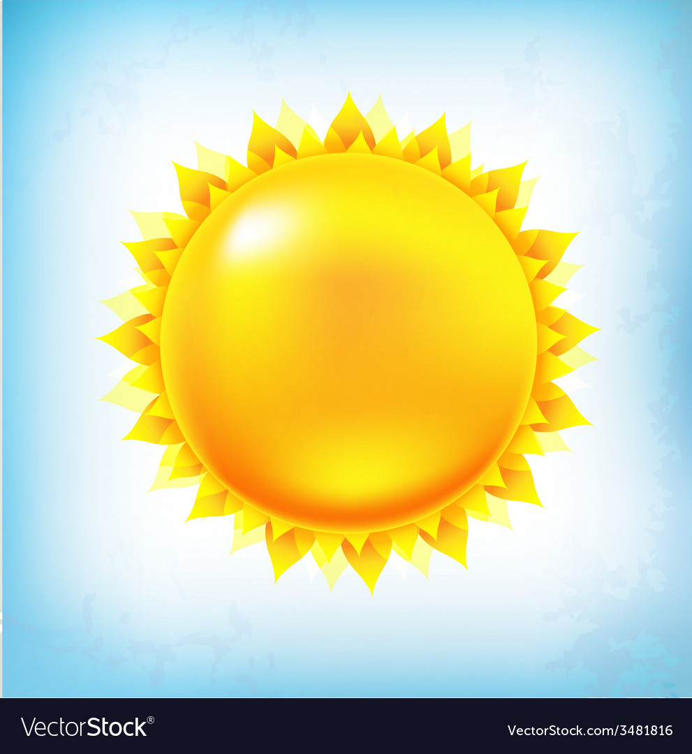 Vintage sun with sky vector | Price: 1 Credit (USD $1)