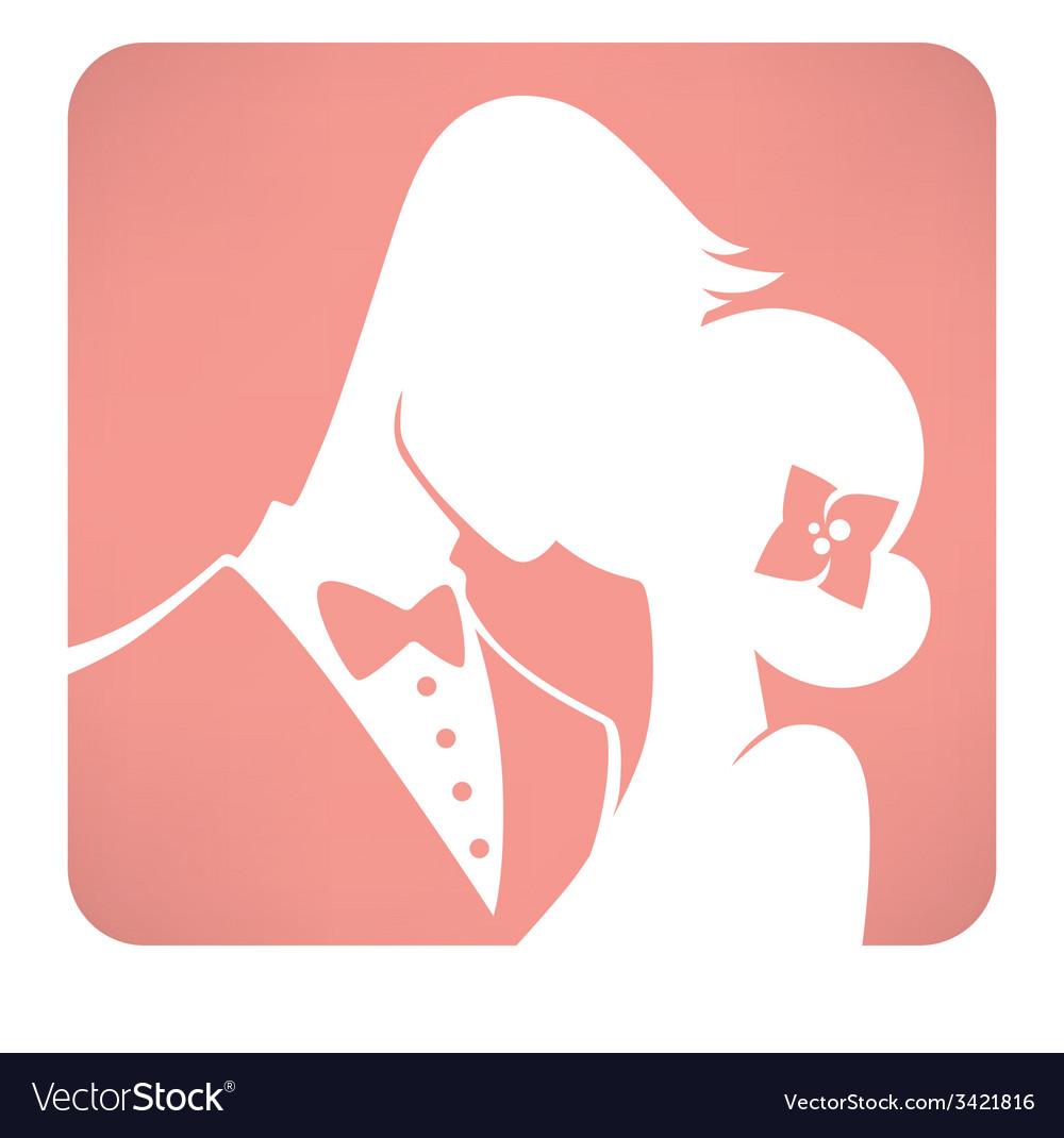 Wedding kiss vector | Price: 1 Credit (USD $1)