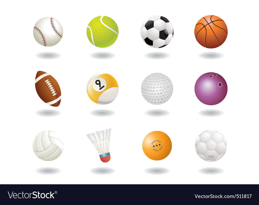 12 ball icons vector | Price: 3 Credit (USD $3)