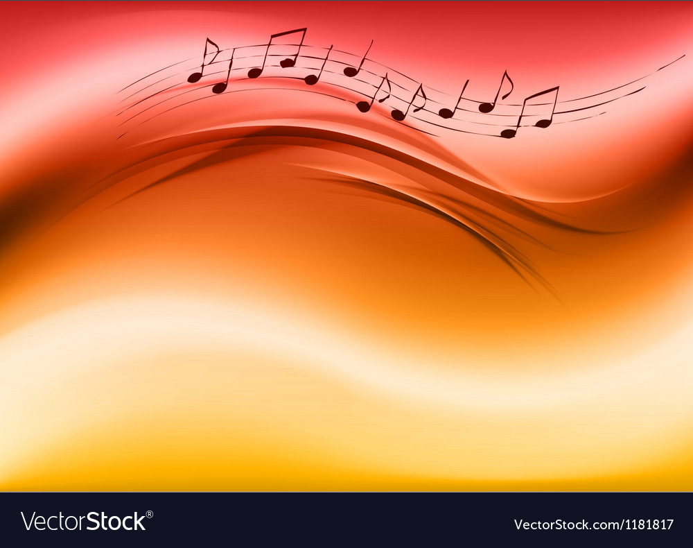 Abstract music red vector | Price: 1 Credit (USD $1)