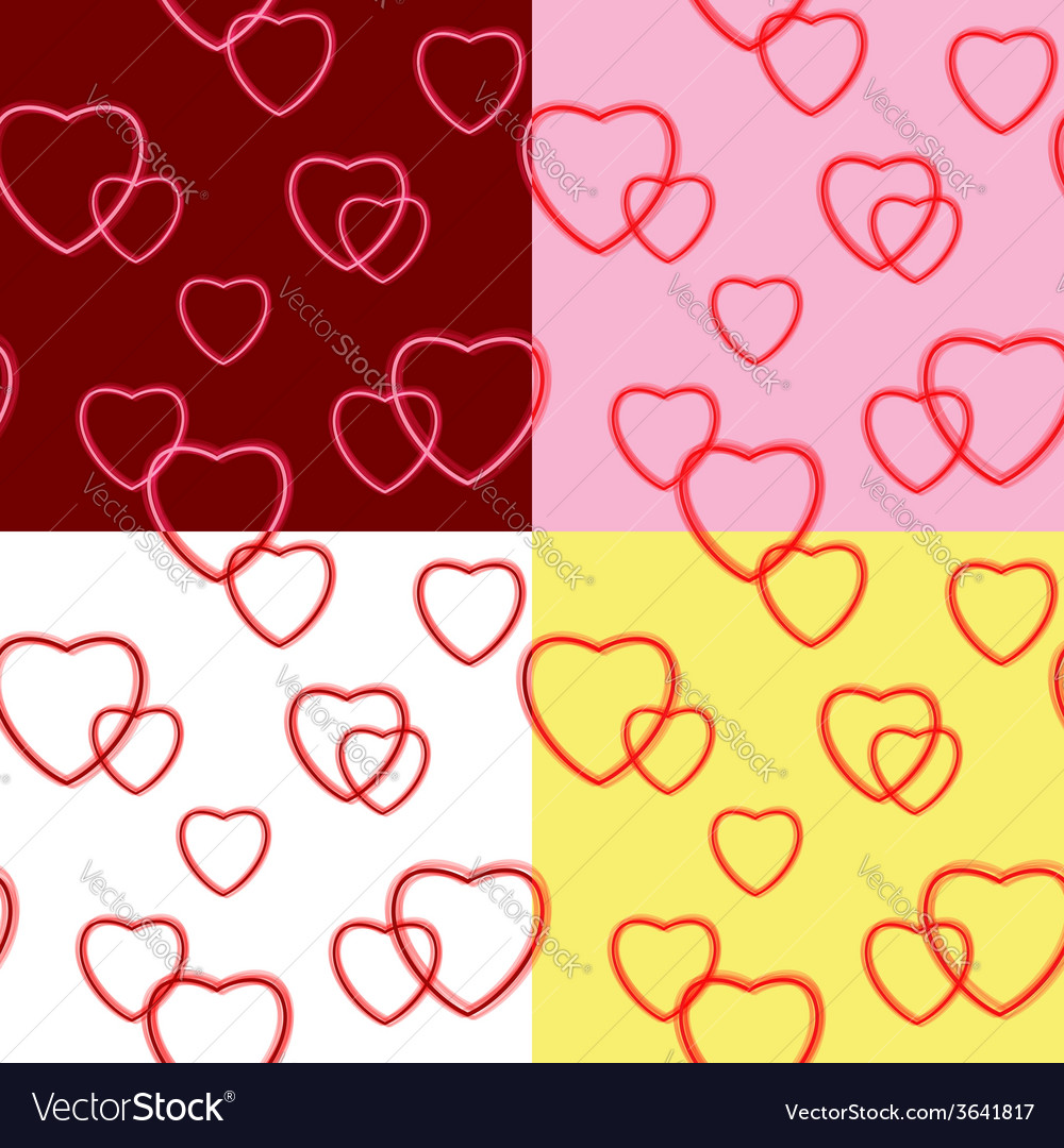 Background with hearts for valentine day - set vector | Price: 1 Credit (USD $1)