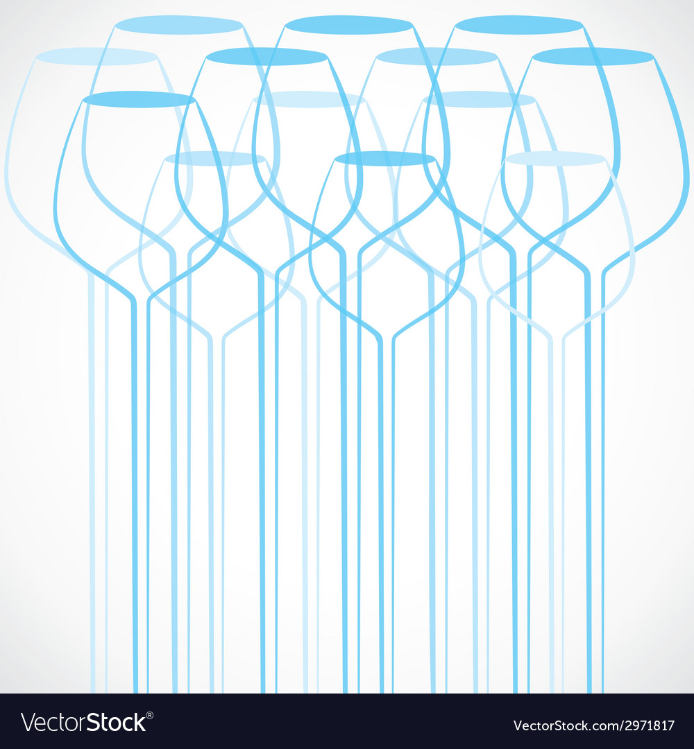 Blue wine glass stock background vector | Price: 1 Credit (USD $1)