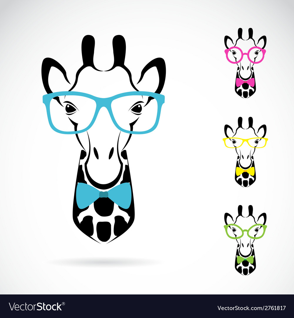 Giraffe glasses vector | Price: 1 Credit (USD $1)