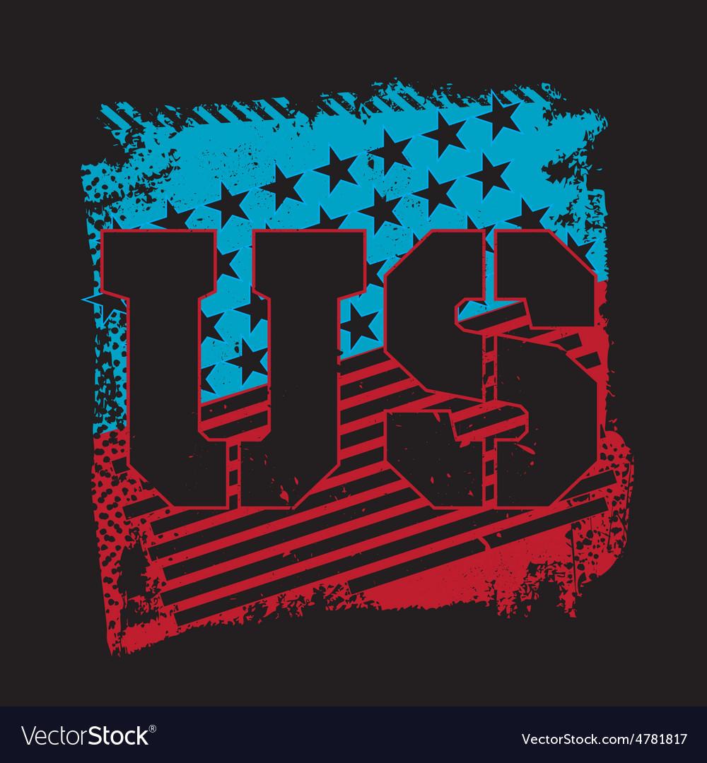 Grunge usa emblem vector | Price: 1 Credit (USD $1)