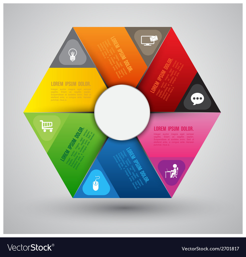 Hexagon group template vector | Price: 1 Credit (USD $1)