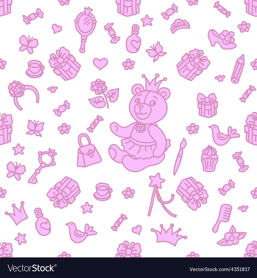 My little princess part of ornament vector | Price: 1 Credit (USD $1)