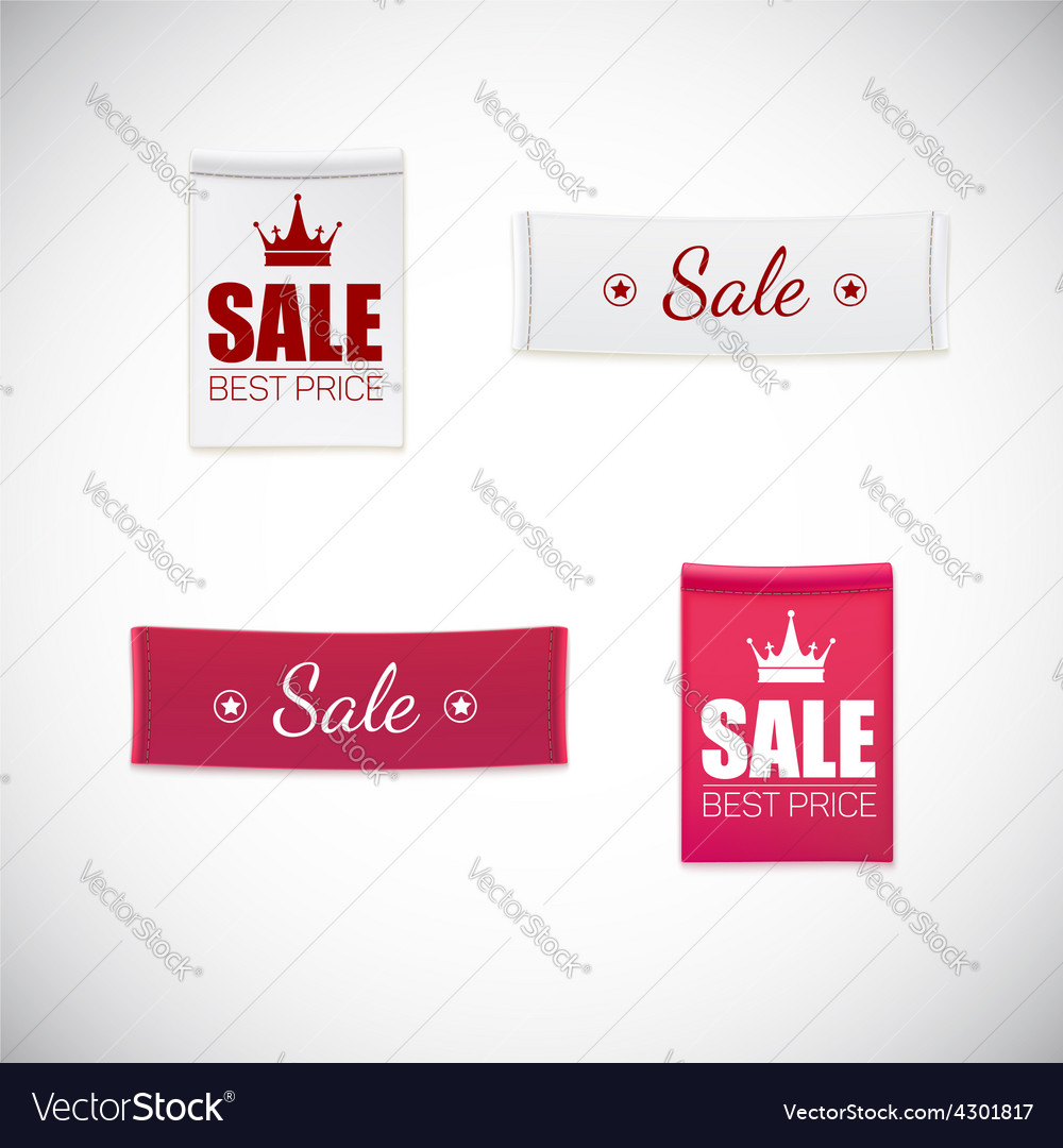 Realistic clothing label vector | Price: 1 Credit (USD $1)