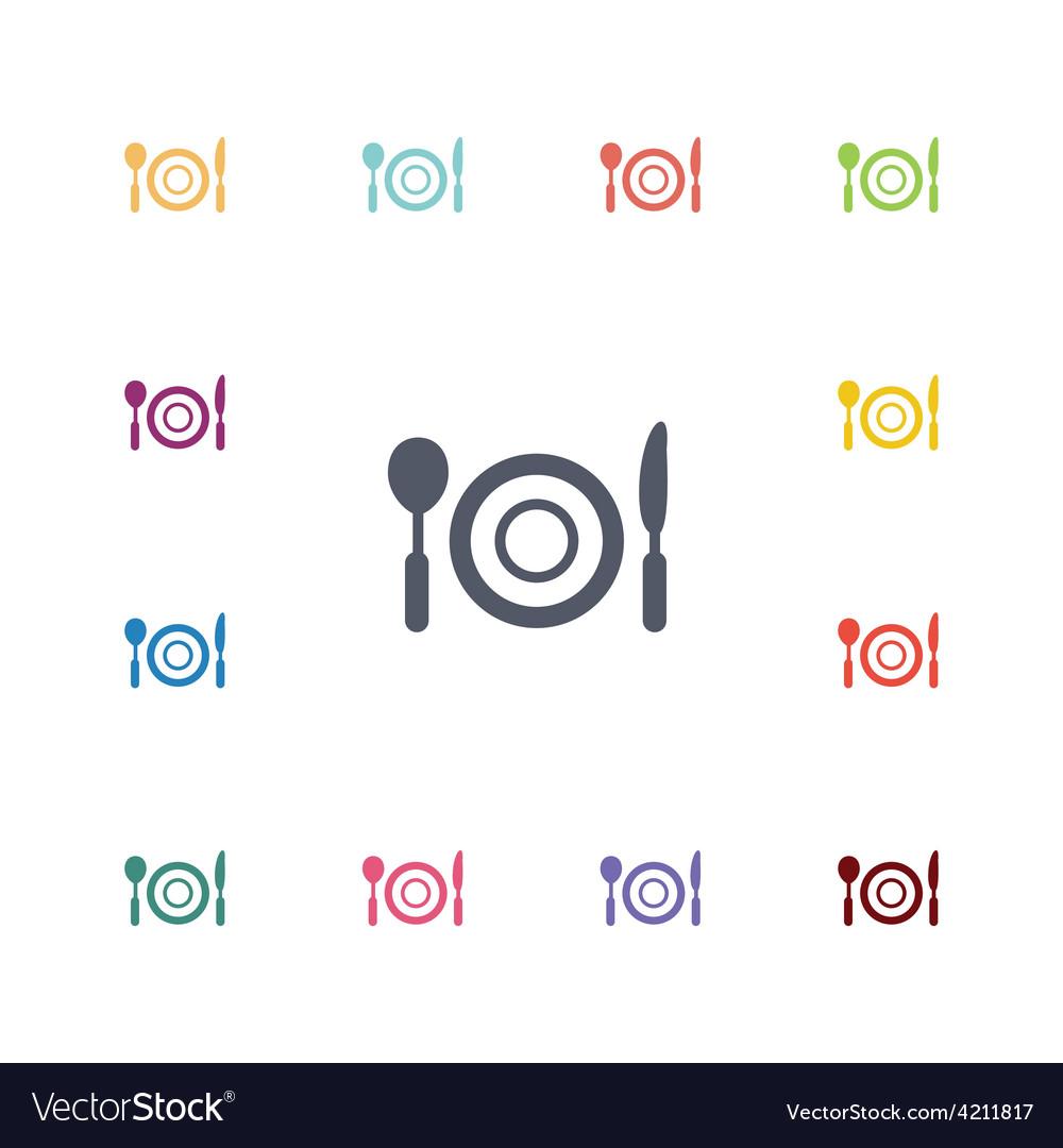 Restaurant flat icons set vector | Price: 1 Credit (USD $1)