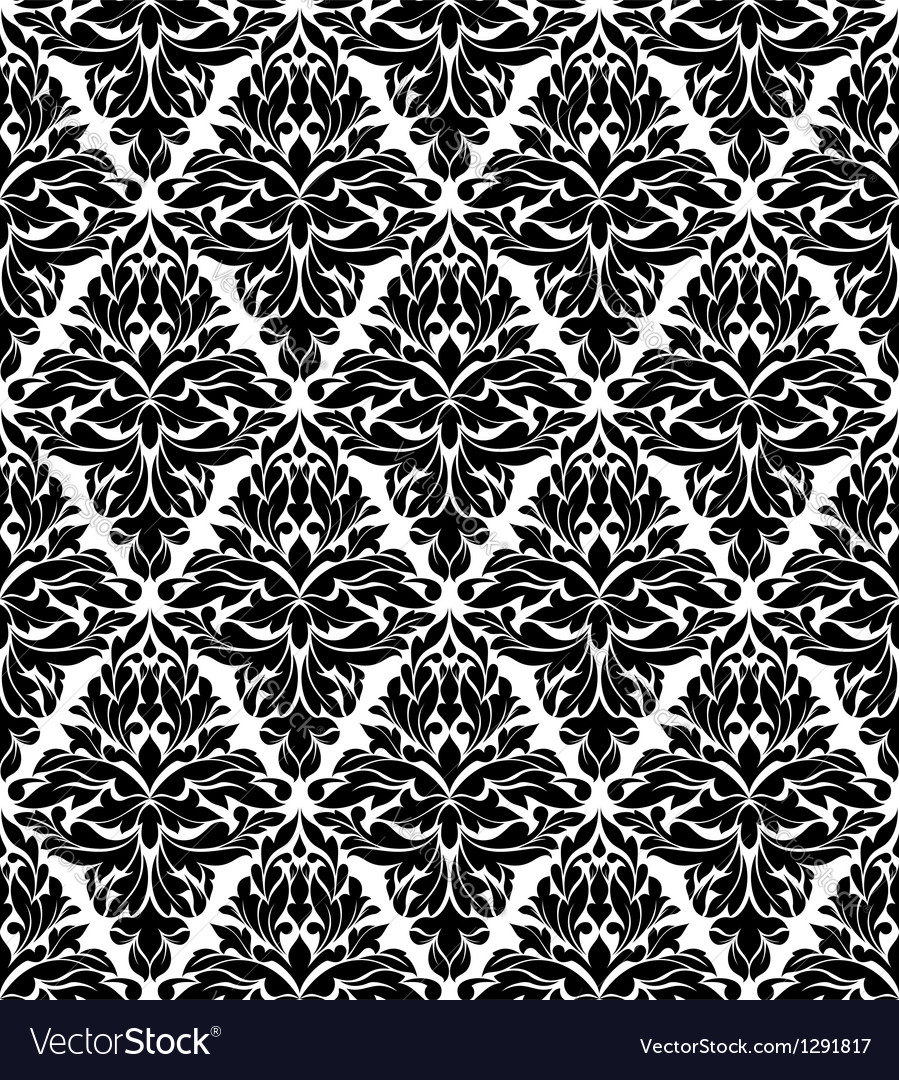 Seamless background in damask style vector   Price: 1 Credit (USD $1)