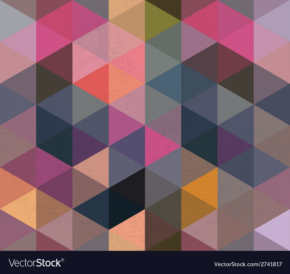 Seamless triangle pattern background texture vector | Price: 1 Credit (USD $1)
