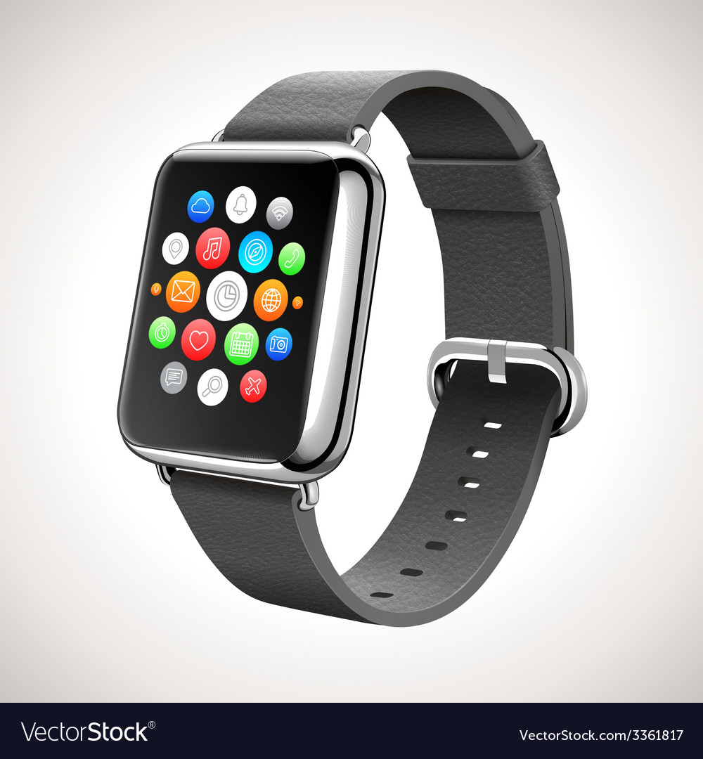 Smart watch concept realistic vector | Price: 1 Credit (USD $1)