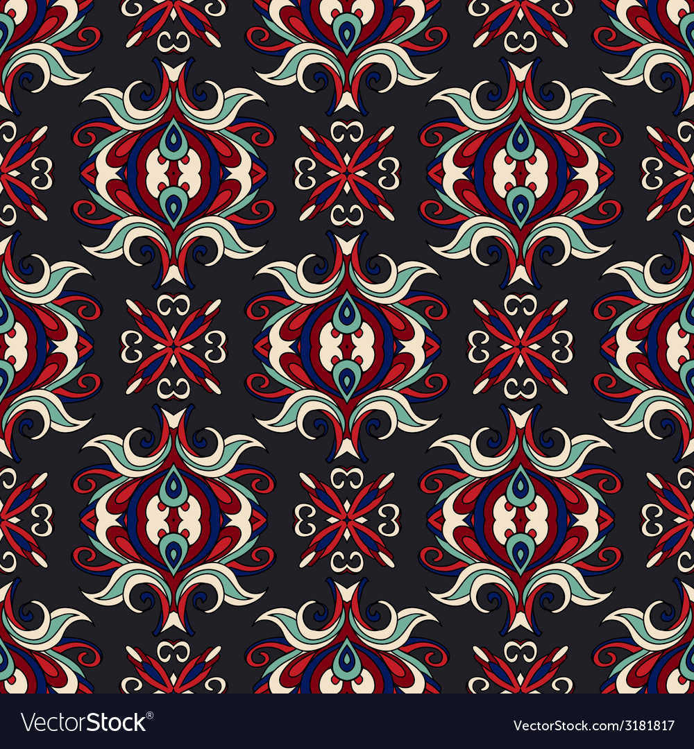 Vintage damask floral oriental vector | Price: 1 Credit (USD $1)