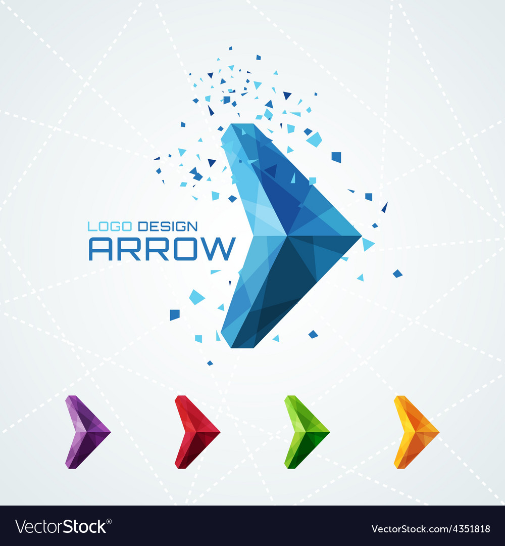 Abstract triangular arrow logo vector | Price: 1 Credit (USD $1)
