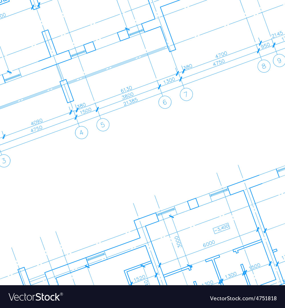 Architecture blueprint background vector | Price: 1 Credit (USD $1)