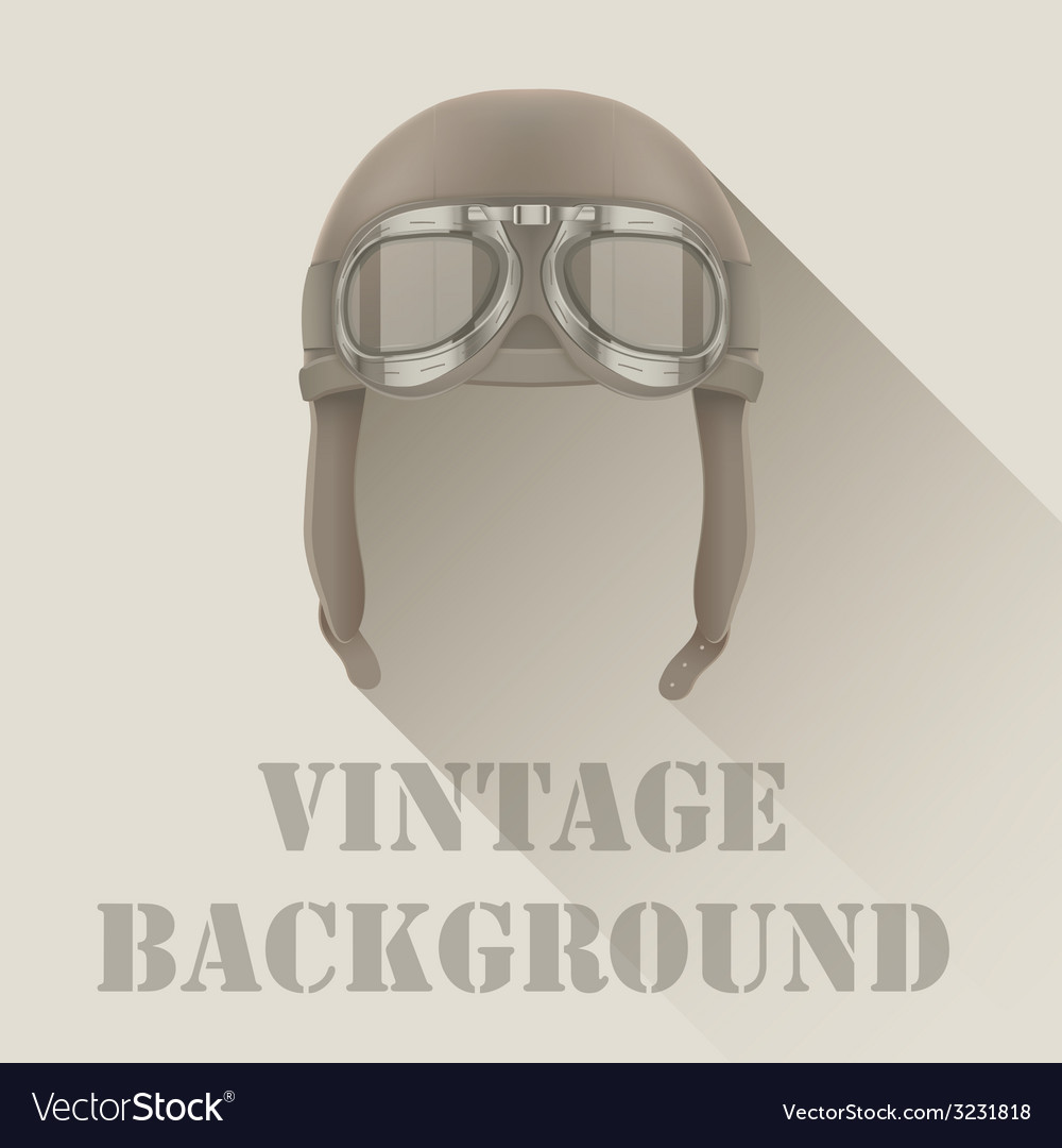Background of retro aviator pilot or biker helmet vector | Price: 1 Credit (USD $1)
