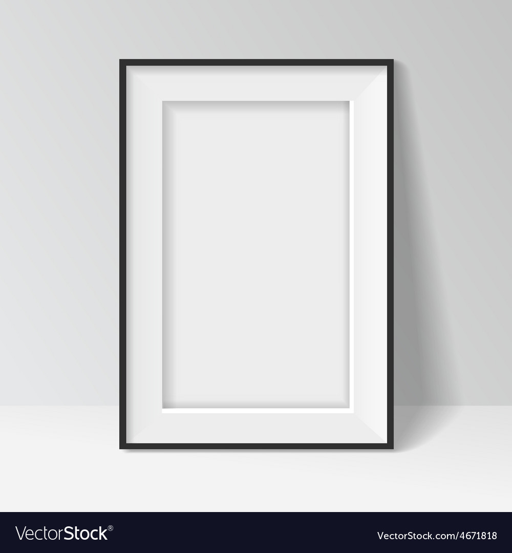 Black frame standing near the walll vector | Price: 1 Credit (USD $1)