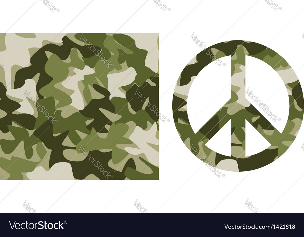 Camouflage pattern and peace symbol vector | Price: 1 Credit (USD $1)