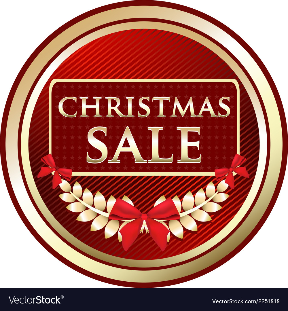 Christmas sale gold label vector | Price: 1 Credit (USD $1)